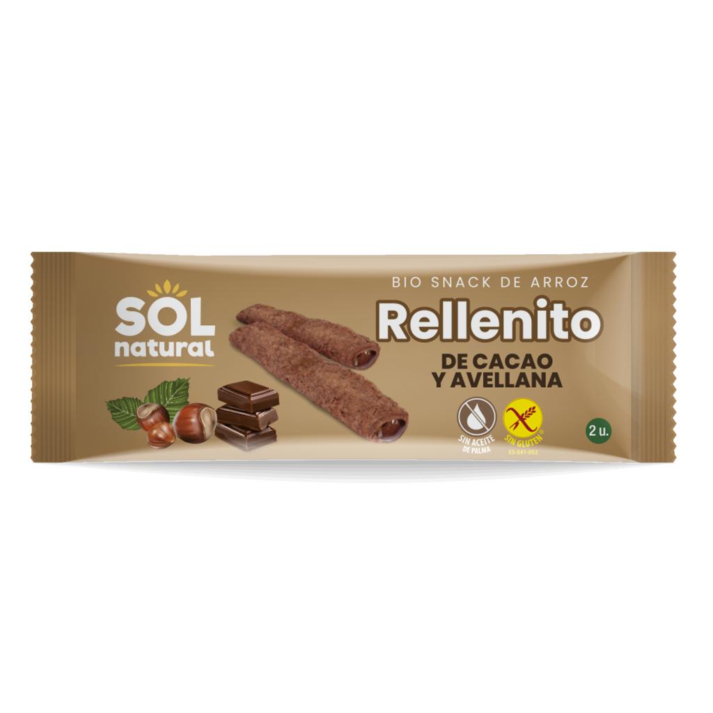 RELLENITO DE CHOCOLATE Y AVELLANAS BIO SIN GLUTEN