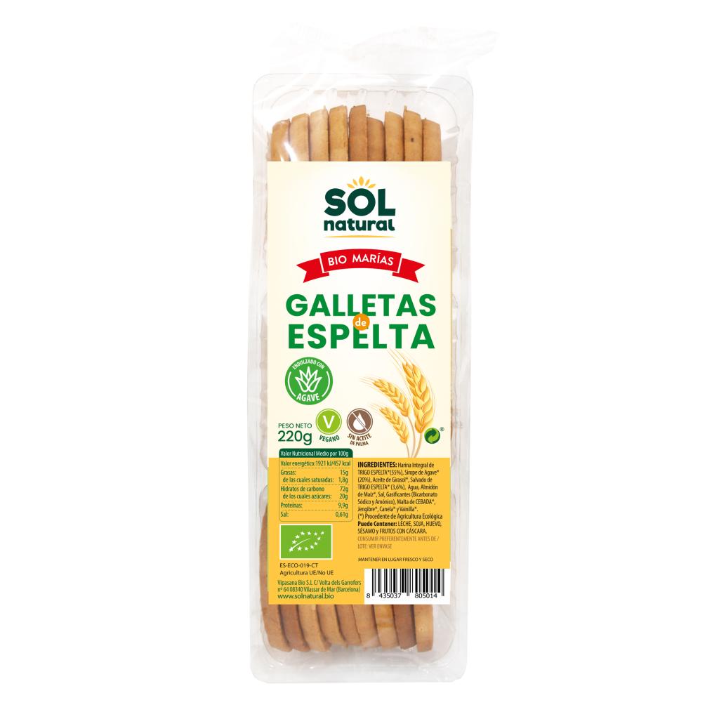 GALLETAS MARÍA DE ESPELTA CON SIROPE DE AGAVE BIO
