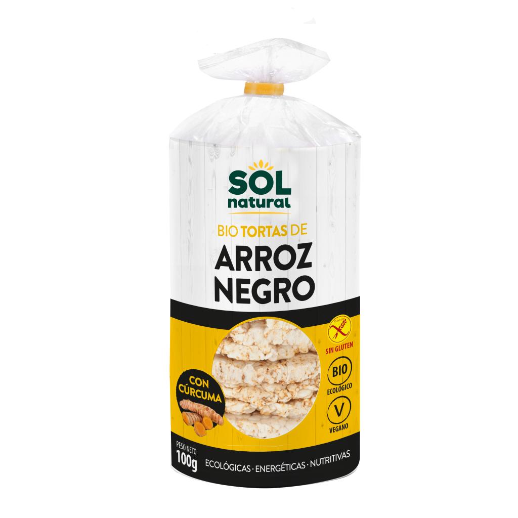 TORTAS DE ARROZ NEGRO Y CÚRCUMA BIO