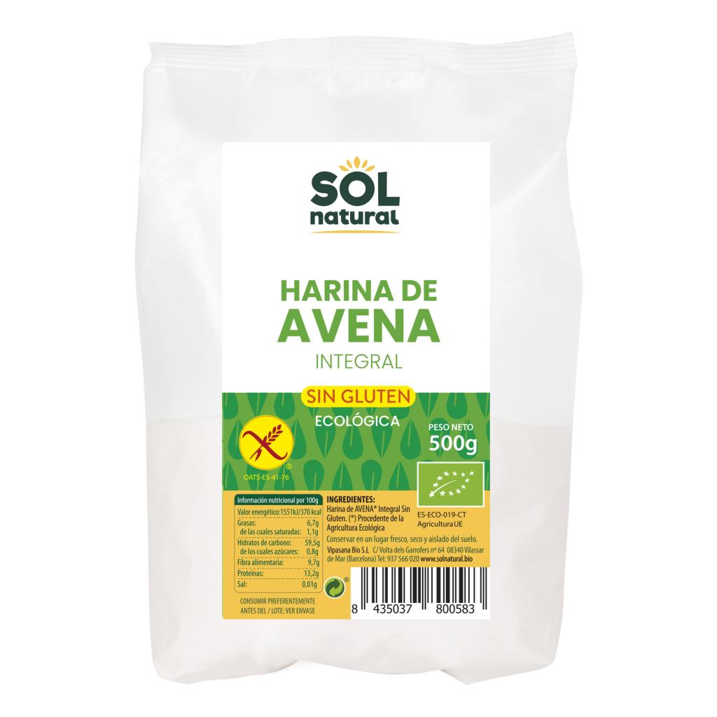 HARINA DE AVENA SIN GLUTEN BIO