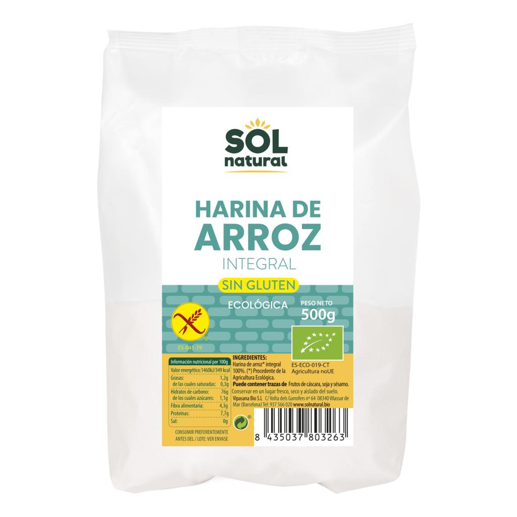 HARINA DE ARROZ INTEGRAL SIN GLUTEN BIO