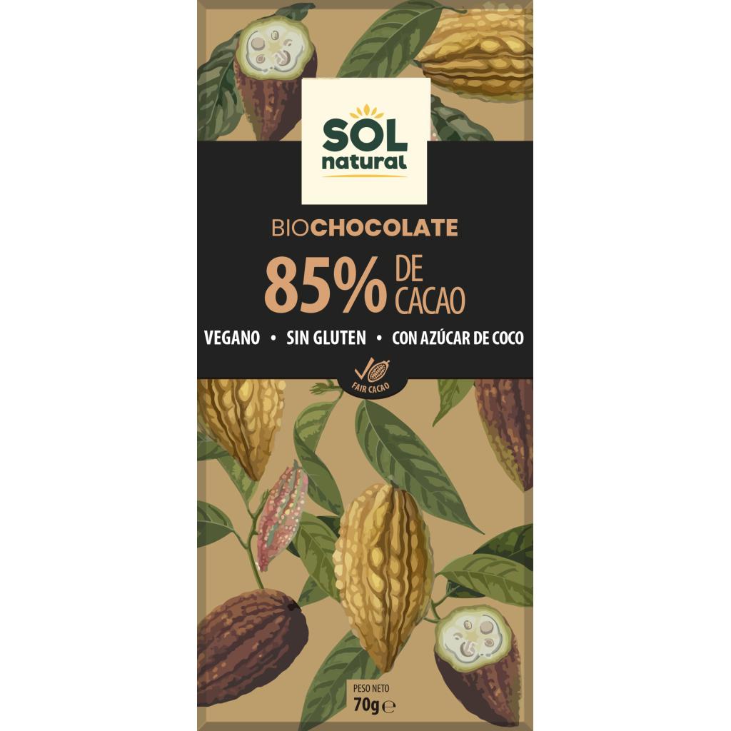 TABLETA DE CHOCOLATE NEGRO 85% BIO