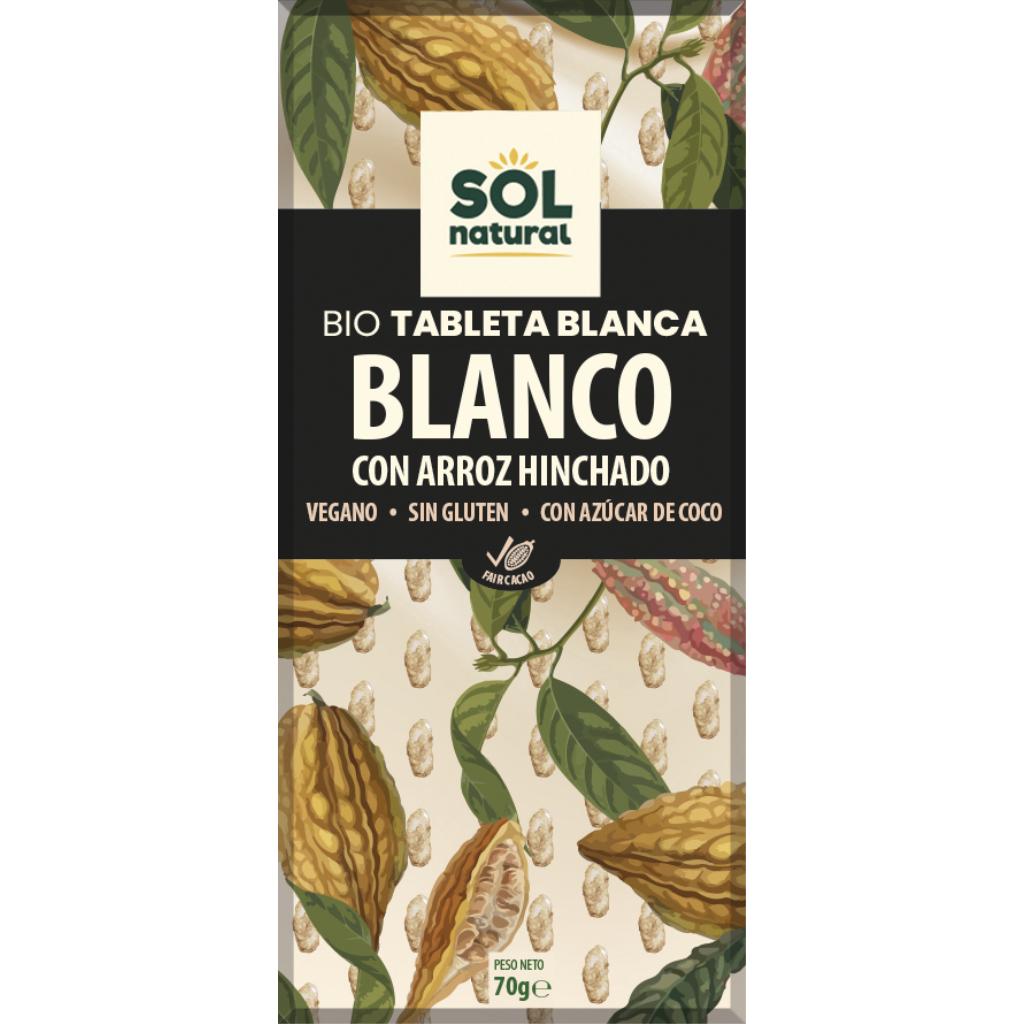 TABLETA CHOCOLATE BLANCO Y ARROZ BIO