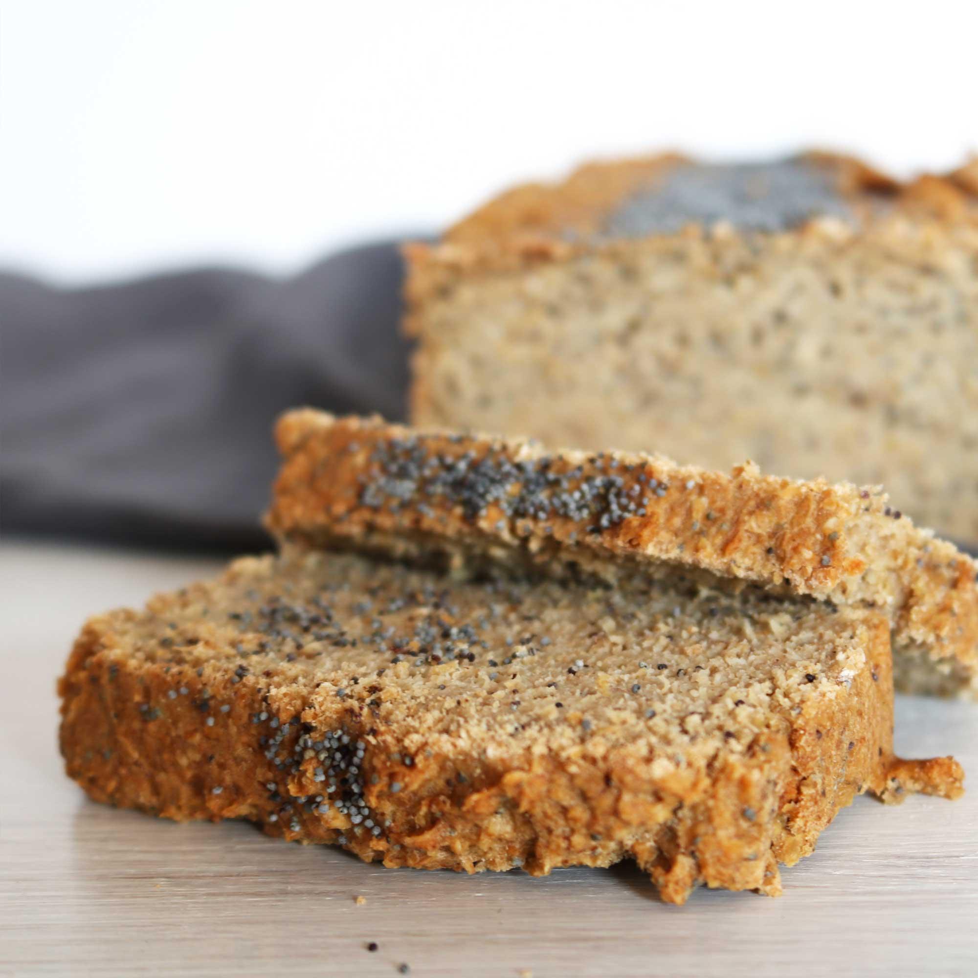Pan de Avena Sin gluten con semillas de amapola