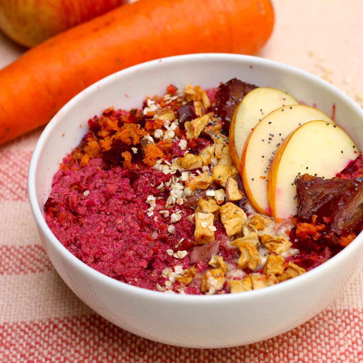 Porridge Otoñal de Remolacha y Zanahoria