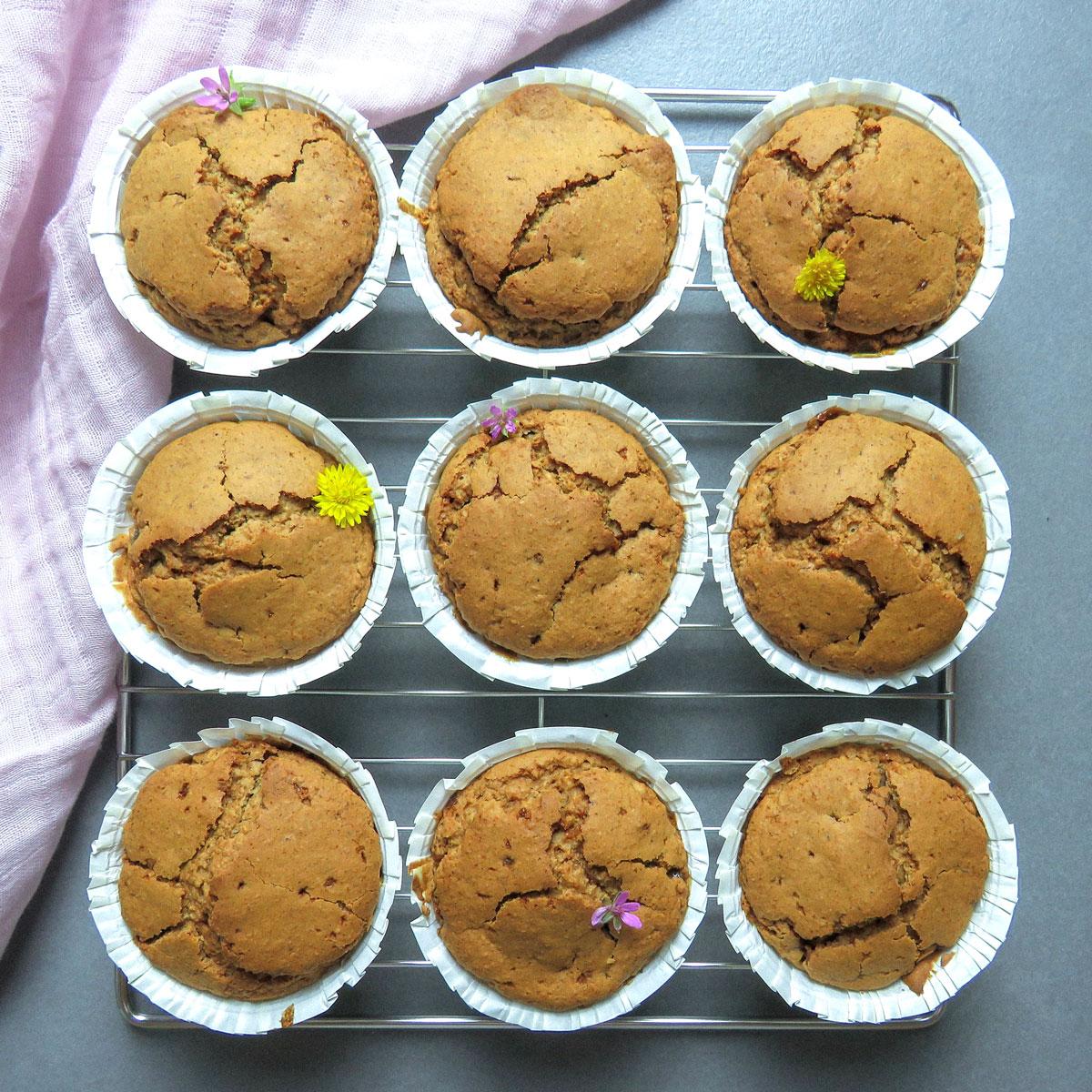 Muffins  de jengibre veganos y sin gluten