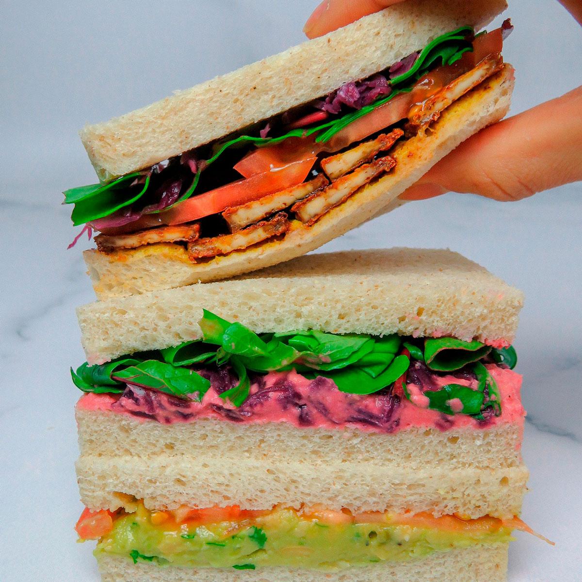 3 ideas de sándwiches saludables (y veganos)