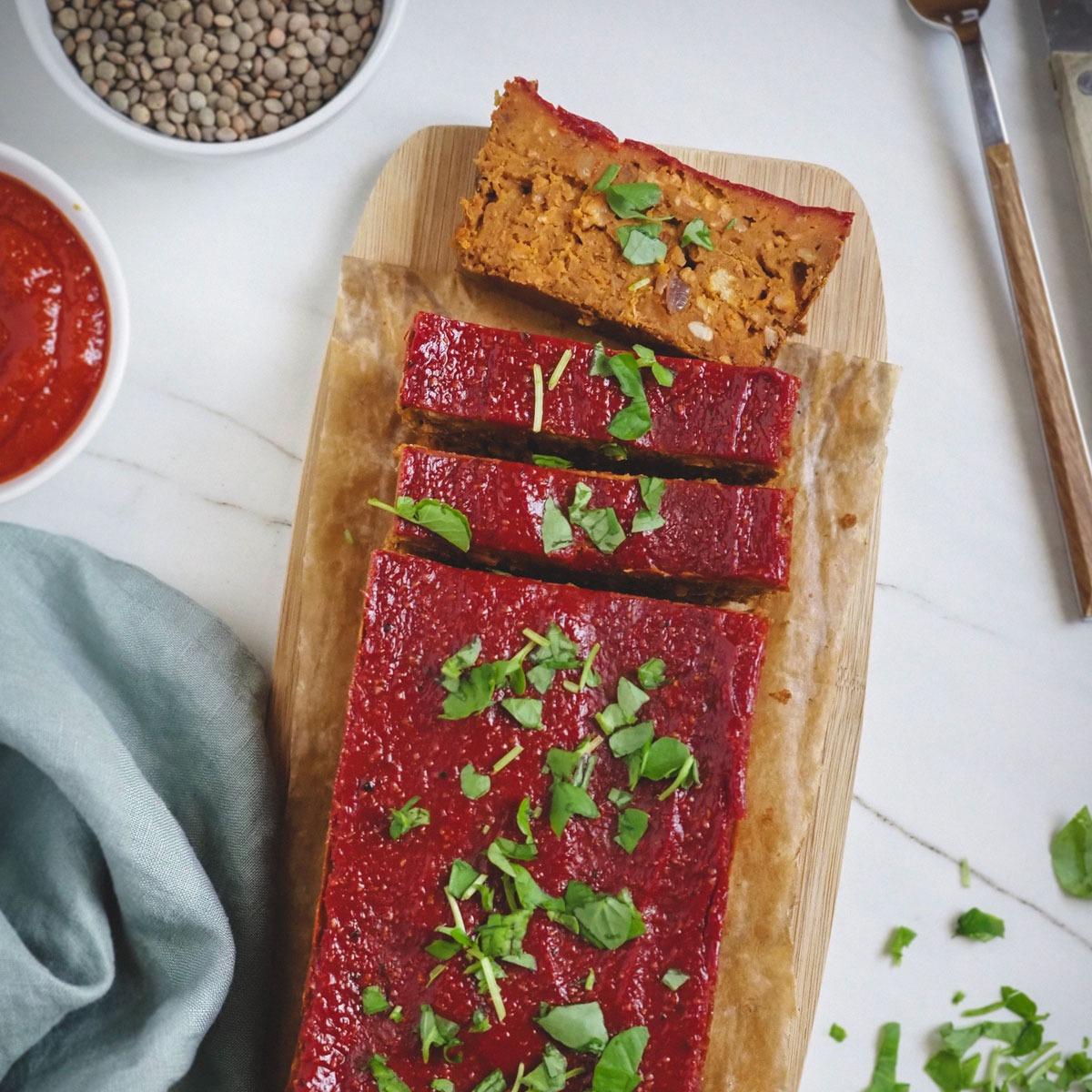 Vegan Meatloaf (pastel de carne vegano)