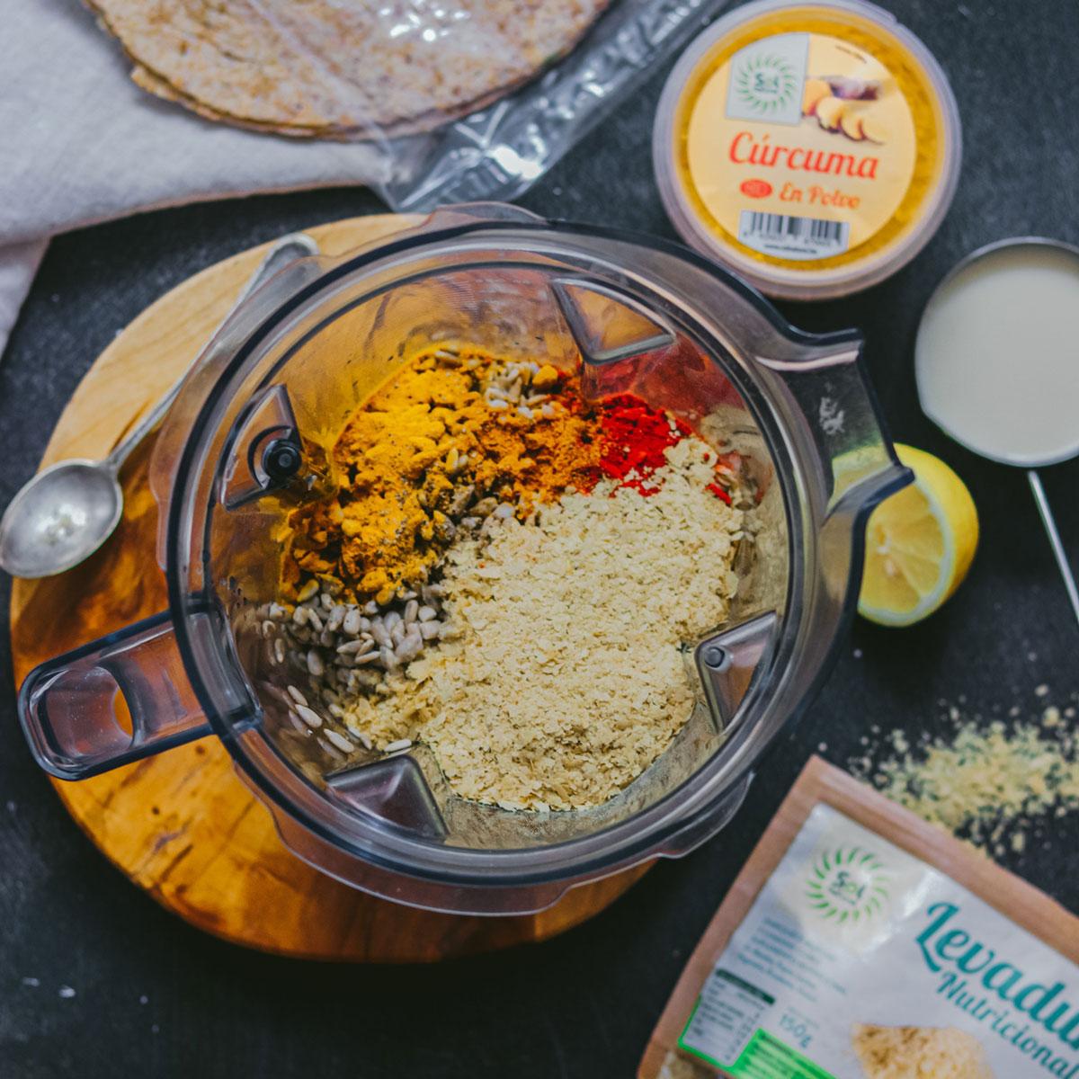 Quesadillas con Cheddar Vegano