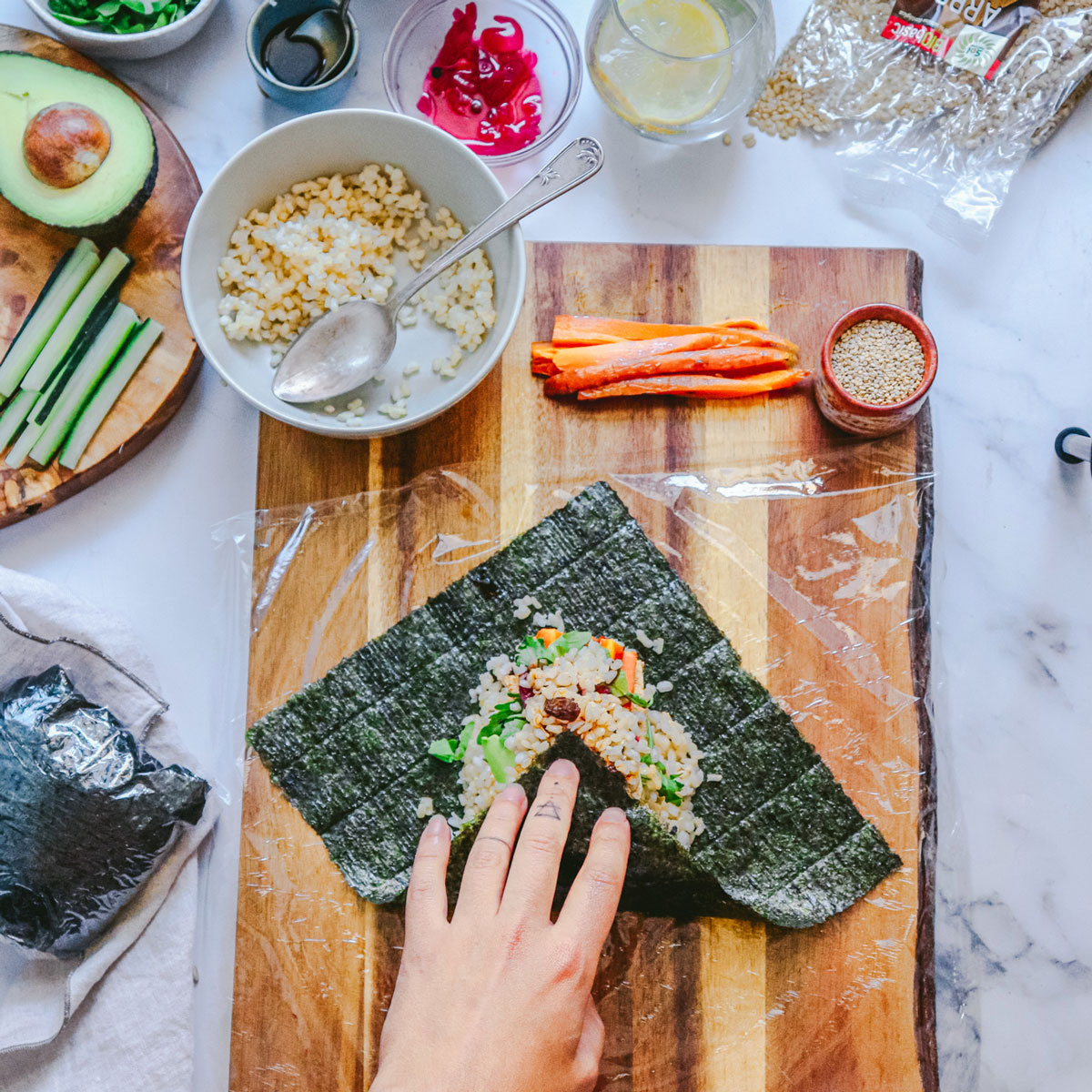 Onigirazu Vegano (Sándwich de Sushi)