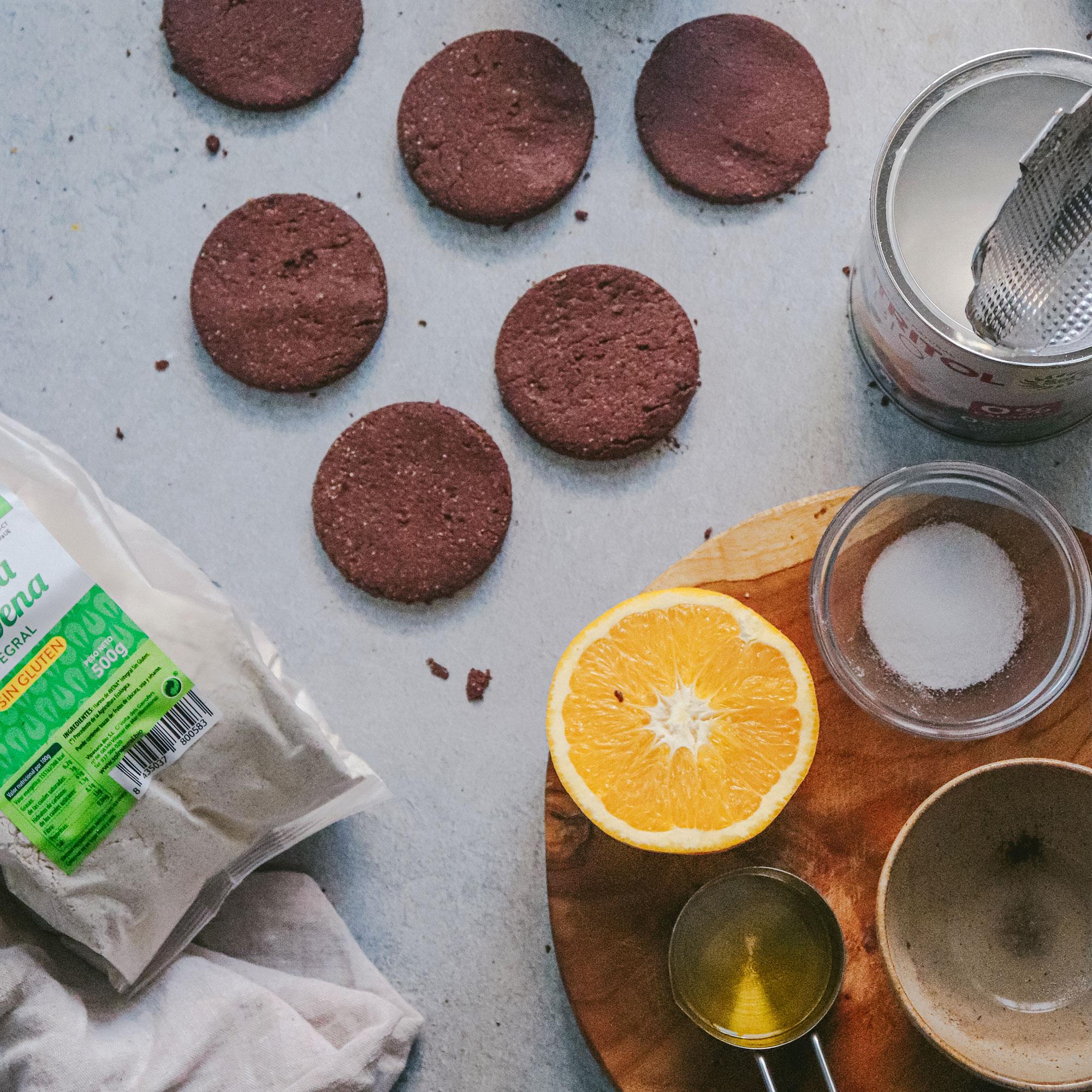 Galletas de Cacao y Naranja