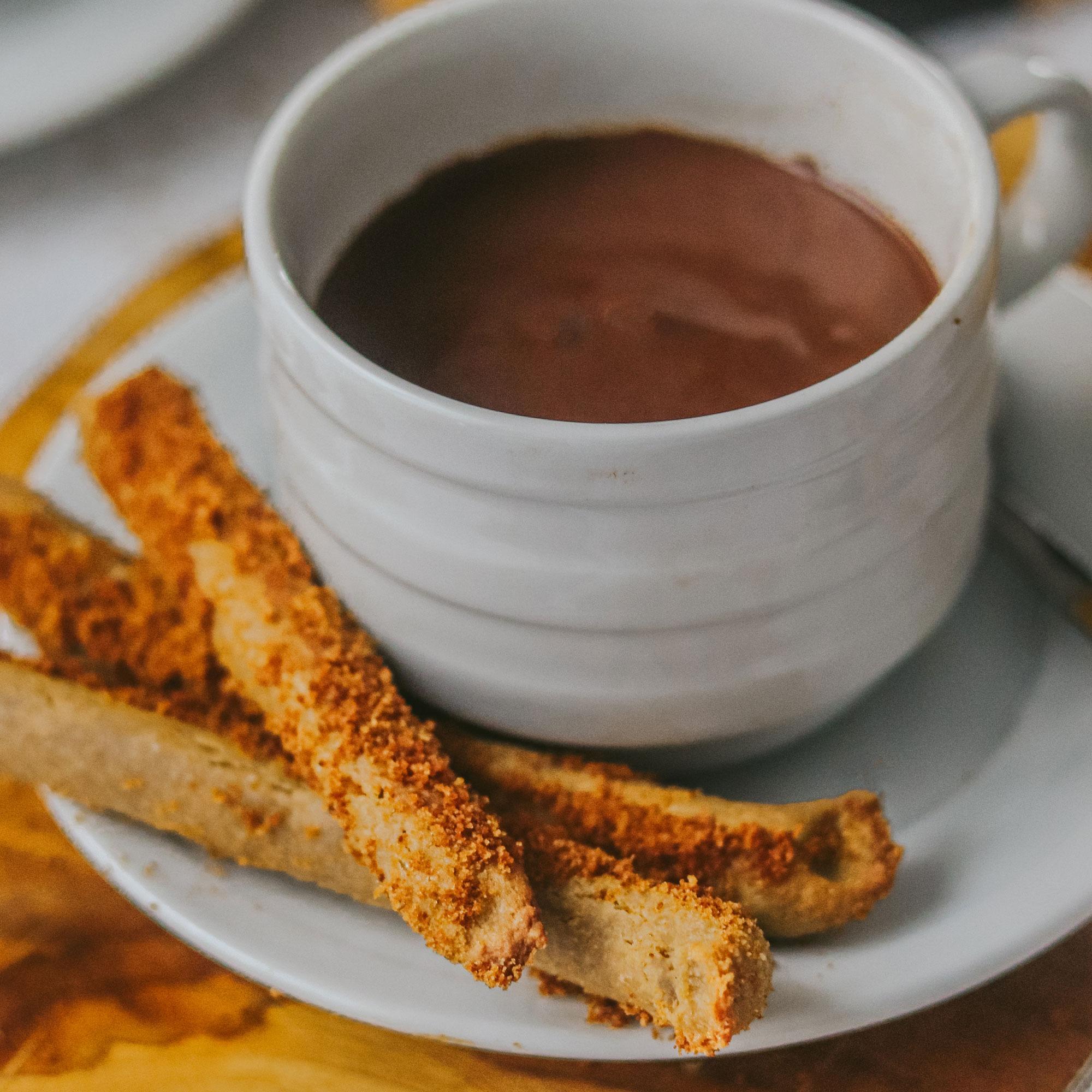 Chocolate con churros sin gluten