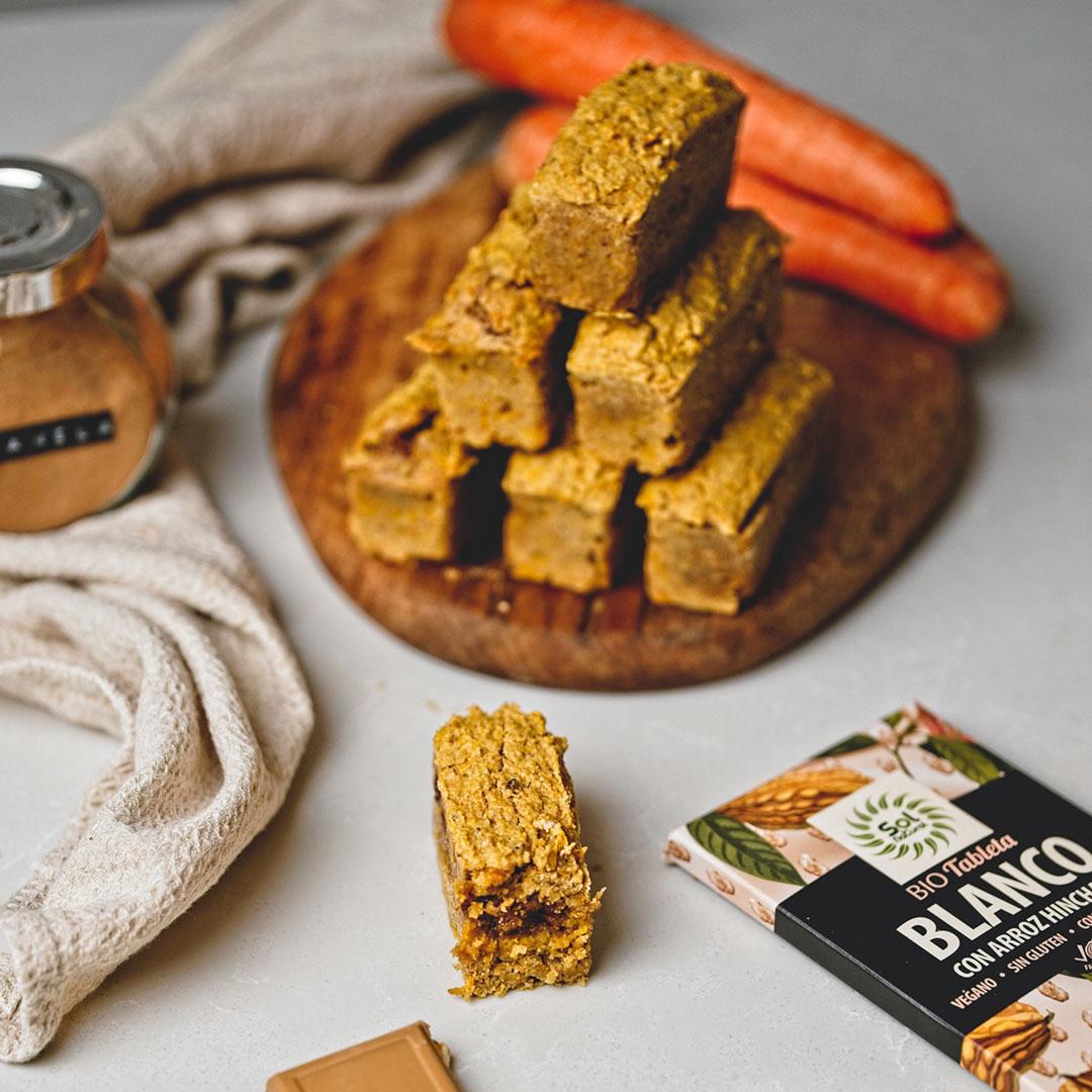 Barritas Veganas de Carrot Cake