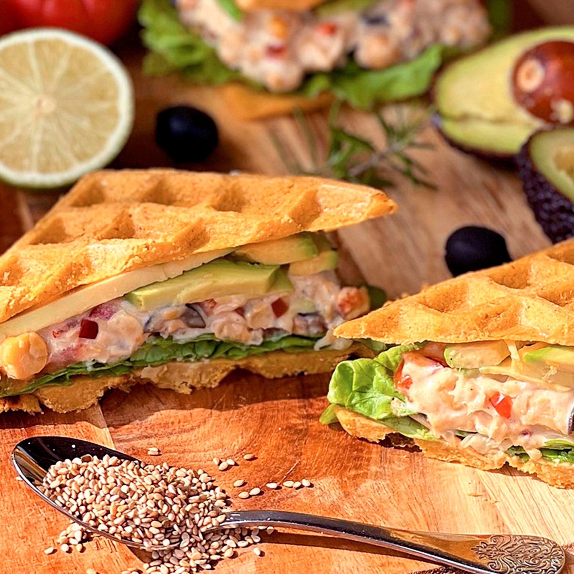 Socca Waffle Sandwich