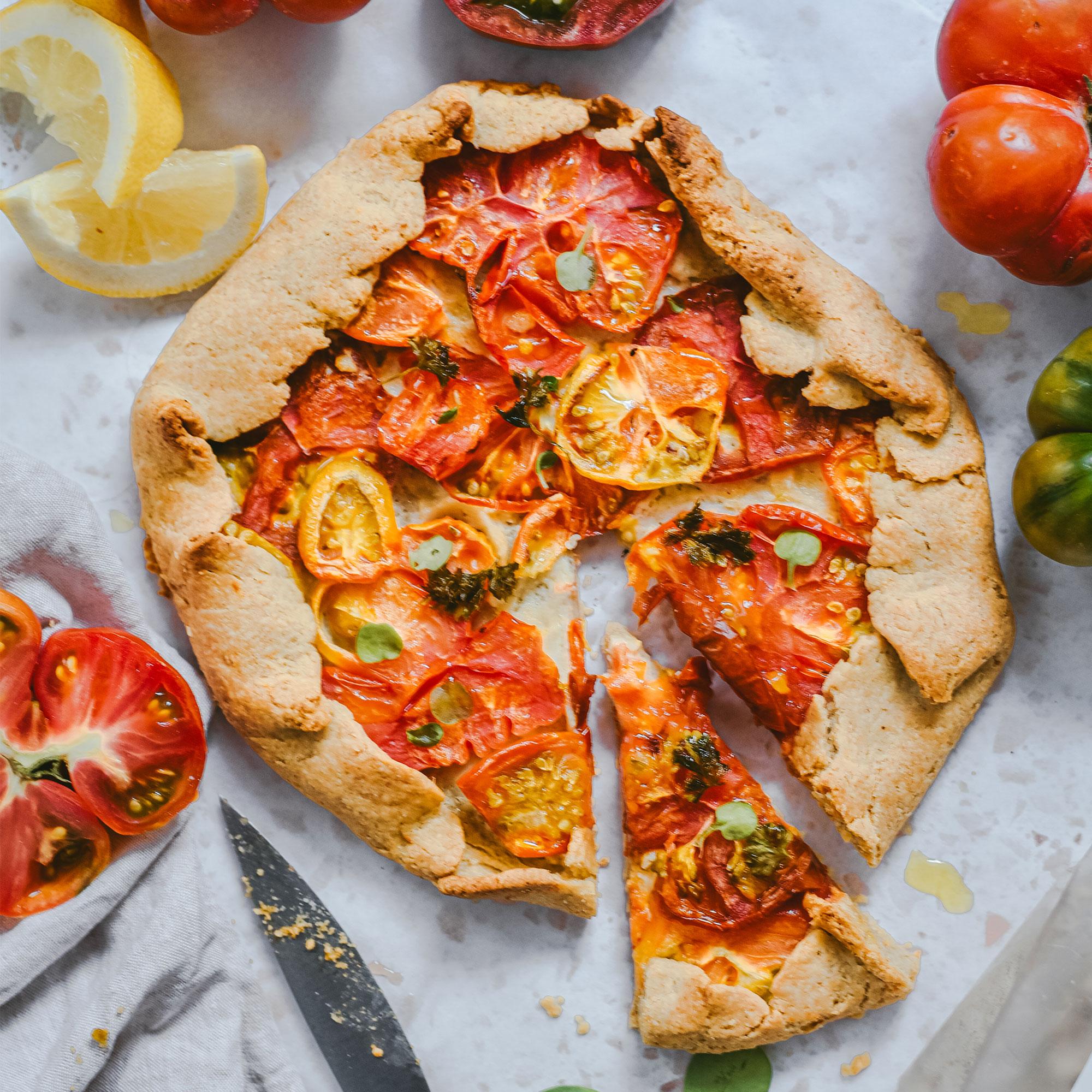 Galette de tomate sin gluten