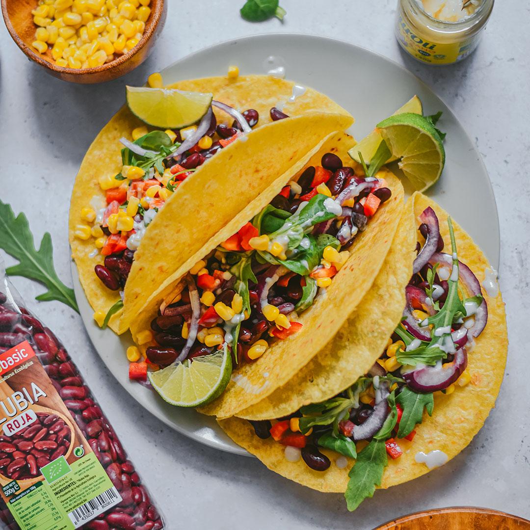 Tacos crujientes vegetales