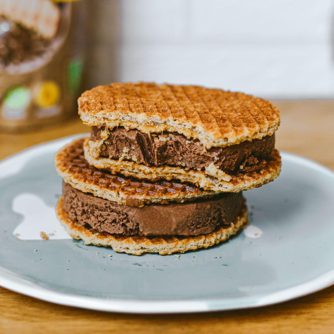 Sandwich helado de chocolate
