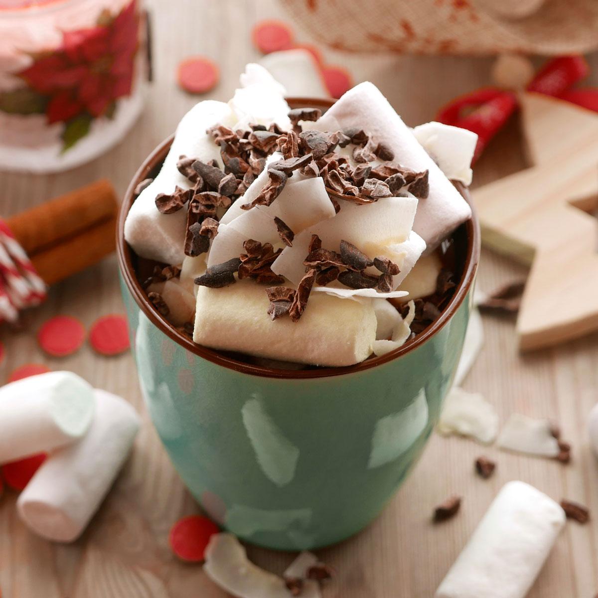 Merienda de Navidad: chocolate caliente con nubes