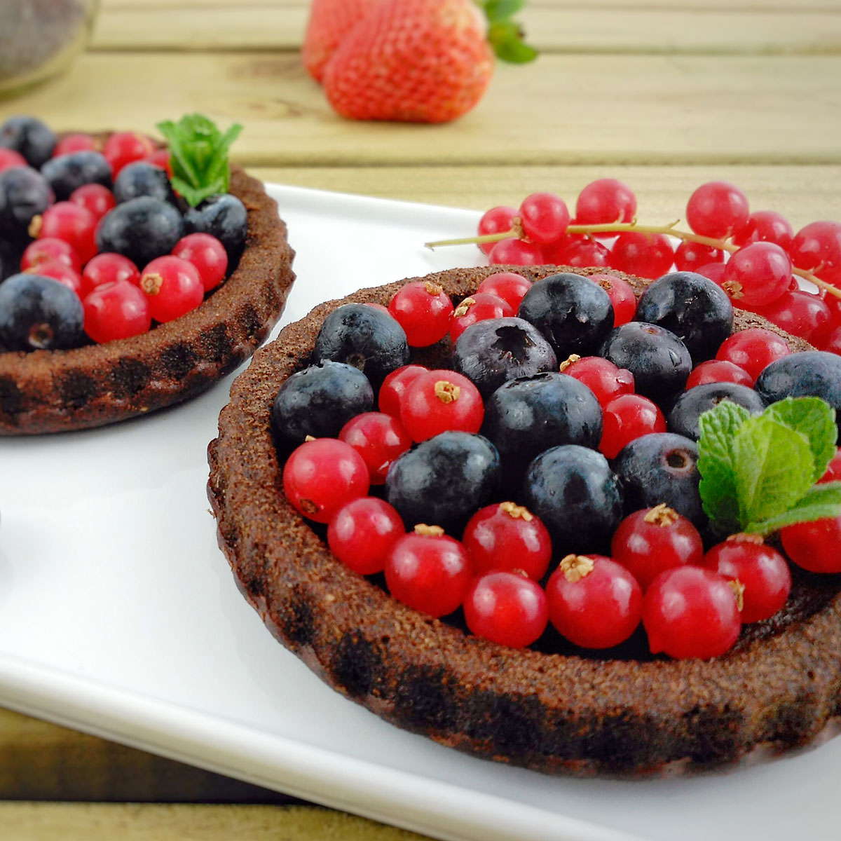 Mini bundt cakes de chocolate, amapola y lino