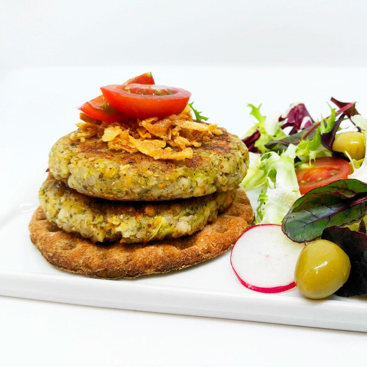Mini Burgers Veganas de Trigo Sarraceno